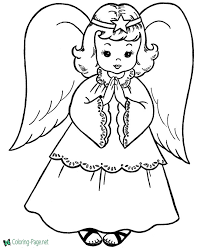 coloring pages printable angel