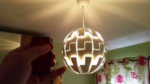 Ikea Lighting Chandeliers Remote Controlled Ikea Death Star Lamp Youtube