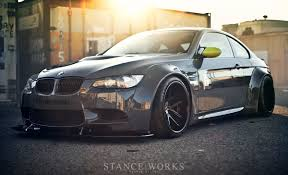 stanced bmw m5 the liberty walk lb performance m3 stanceworks