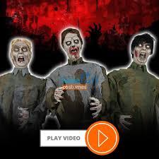 zombie horde animated halloween prop lifesize haunted house