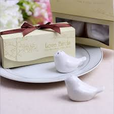 salt and pepper wedding favors free shipping birds in the window ceramic salt pepper