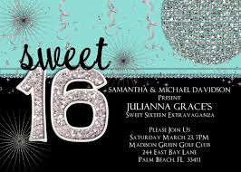 sweet 16 tiffany parties sweet 16 birthday invitation tiffany