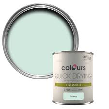 colours quick dry duck egg eggshell wood u0026 metal paint 750 ml