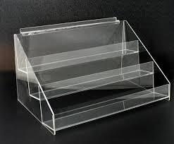 Tiered Bookshelves by Acrylic Slatwall 3 Tier Display Shelf Holder Rack Riser