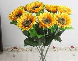 table top flower arrangements artificial flower single sunflower table top desktop layout