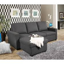 abbyson newport upholstered sofa storage sectional free shipping