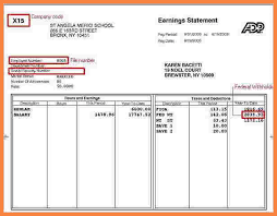 Excel Pay Stub Template Free 4 Pay Stub Template Excel Free Securitas Paystub