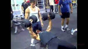 zyzz bench press zyzz sticky taping sellotaping 50kg dumbbells to 5kg dumbbells to