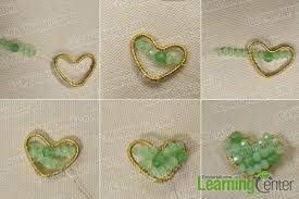 heart beaded necklace images How to make a beaded heart shaped pendant necklace jpg