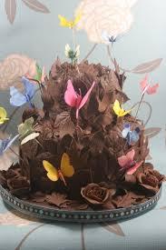 wedding cake amazing unique handmade chocolate butterflies wedding