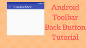 android toolbar tutorial android toolbar back button tutorial coding demos