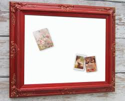 dry erase board baroque framed 31x27 red framed