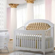 allegra gold 5 in 1 convertible crib with gold diamond tufted