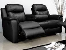 canap cuir noir 3 places canapé cuir pas cher achat en ligne livraison rapide