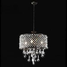 Antique Black Chandelier Antique Black 4 Light Round Crystal Chandelier Free Shipping