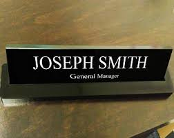 Office Desk Name Plate Desk Name Plate Etsy