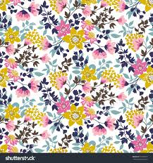 Flower Fabric Design Trendy Seamless Floral Ditsy Pattern Fabric Stock Vector 512200573