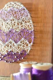 home decor arts and crafts ideas easter egg string art home decor craft