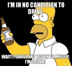 Drinking And Driving Memes - homer i m in no condition to drive funny pinterest drunk