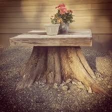 Pictures Of Tree Stump Decorating Ideas Tree Stump Table Home Outdoor Spaces Pinterest Tree Stump