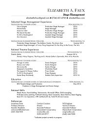 technical project manager resume examples stage manager resume resume for your job application click here to download a stage manager or scenic artist resume with references