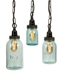 5 Jar Chandelier Collection In Glass Jar Pendant Light In Interior Decorating