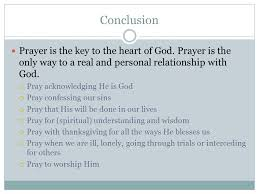 what is prayer introduction the most important thing in a