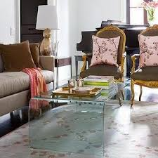 Glass Waterfall Coffee Table Lucite Coffee Table Design Ideas
