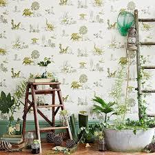 green wallpaper room classic dino wallpaper yellow green sian zeng