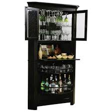 Black Bar Cabinet Bar With Wine Storage Home Bar Unit Bar Cabinet Wooden Bar