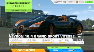 Bugati Veryon Price Real Racing 3 Bugatti Veyron 16 4 Max Speed Test Youtube