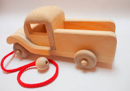wooden truck natural baby and kids toys wooden pickup toy truck