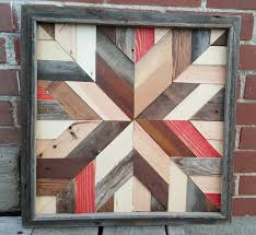 rustic barn quilt star made from reclaimed barn wood salvaged and