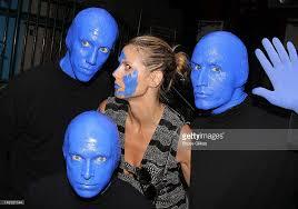 Blue Man Group Halloween Costume Celebrities Visit Broadway July 22 2012 Photos Images