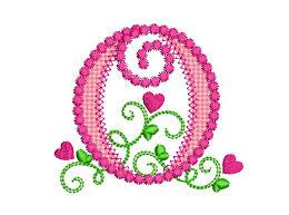 Create Monogram Initials Letter O Applique Machine Embroidery Design Monogram Initials
