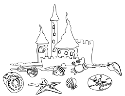 beach coloring pages beach scene coloring page free printable