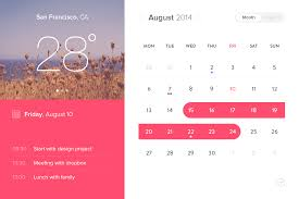 event calendar widget ui design free psd download download psd