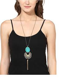 long silver fashion necklace images Buy designer necklaces for women silver turquoise bohemian jpg
