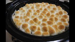 thanksgiving yams with marshmallows slow cooker crockpot sweet potato casserole with marshmallows