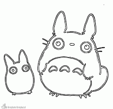 totoro coloring page coloring home