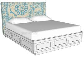King Size Platform Bed With Storage Plans - platform storage bed free and easy plans from https