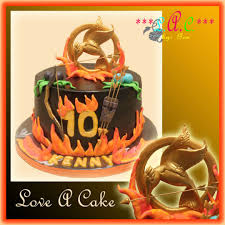 hunger games themed birthday cake cake by genzloveacake cakesdecor