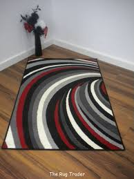 Modern Stripe Rug by Aqua And Red Rugs Helix Striped Modern Poly Black Red Grey Rug