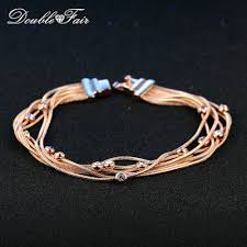 rose gold color bracelet images Multicolor cz stones fringed elegant bracelets bangles rose gold jpg