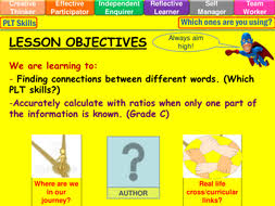 ratio when part is known lesson powerpoint ks4 by mistrym03