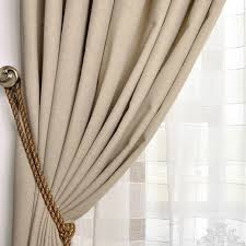 Brown And Ivory Curtains Comfortable Blackout Polyester Cotton And Linen Ivory Curtains