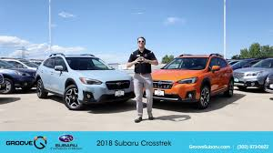 blue subaru crosstrek the 2018 subaru crosstrek is here youtube