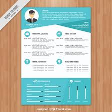 free modern resume templates 2012 modern blue resume template free vectors ui download
