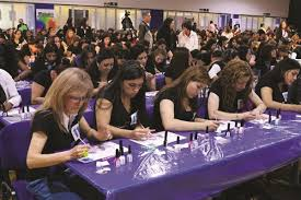 heidy set largest nail art lesson ever sets guinness record style nails