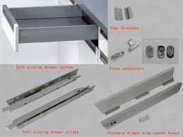 kitchen cabinet drawer guides stunning kitchen cabinet slides 10 s drawer slide brackets